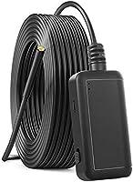 F220 5,5 mm Endoscópio Industrial WiFi Câmera de inspeção de boroscópio 6 LEDs IP67 à prova d'água para smartphones...