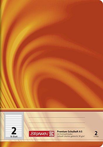 Brunnen 104570202 Schulheft A5 Vivendi (16 Blatt, liniert, Lineatur 2)