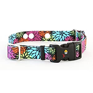 Extreme Dog Fence Replacement Containment and Training Collar Strap for Most Dog Fence Brands – Flower Days (Large: 18″ – 27″ x 1″)