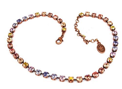 Konplott Halskette Colour Snake beige/lila Antique Copper