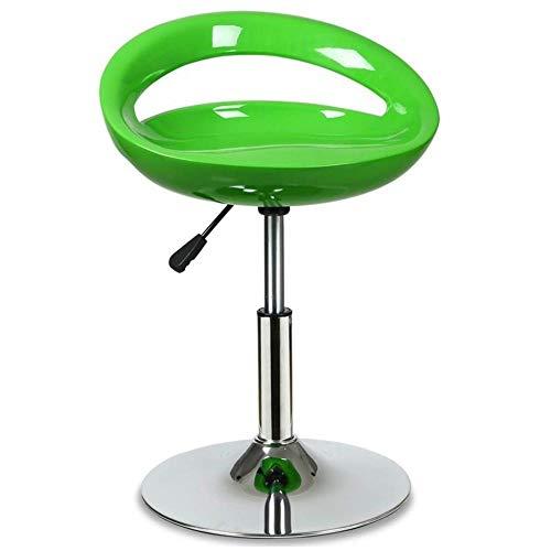 Moderne verstelbare zwenkarruk 360 ° vrije rotatie hoge stoel vrijetijdsbarkruk barkruk voor woonkamer keuken restaurants cafés bars groen