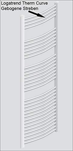 Buderus Handtuchheizkörper Badheizkörper 1820 x 445 gebogen Mittelanschluss weiß