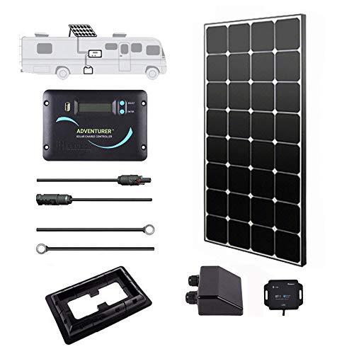 Renogy 100 Watts 12 Volts Eclipse Solar RV Kit with 30A PWM...
