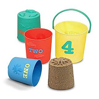 Melissa & Doug Sunny Patch Seaside Sidekicks Nesting Sand Pails, Great Gift for Girls and Boys – Best for 2, 3, and 4 Year Olds by Melissa & Doug (B003AHG3JC) | Amazon price tracker / tracking, Amazon price history charts, Amazon price watches, Amazon price drop alerts