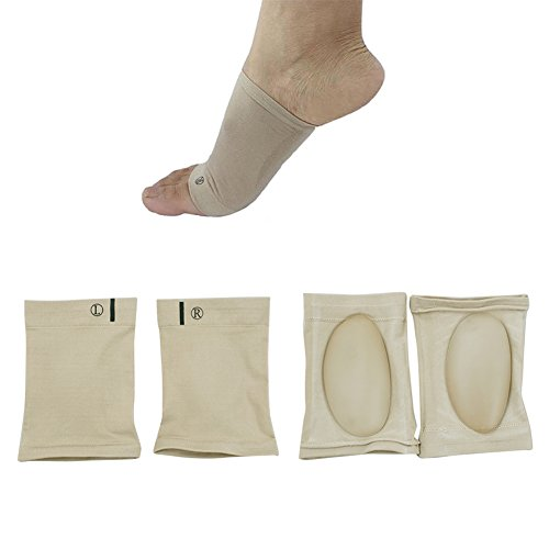 2 Pairs Orthotic Arch Support Silicon Gel Plantar Fasciitis Brace Sleeves Arch Supports by Carejoy