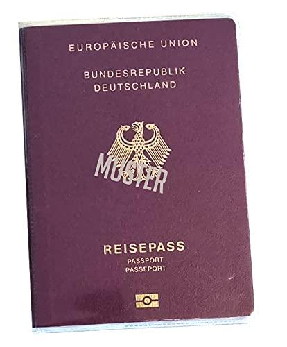 aprom 2 x Reisepasshülle Reisepass Hülle Schutzhülle 183 mm x 130 mm - Neuer Pass ab 2017 - transparent