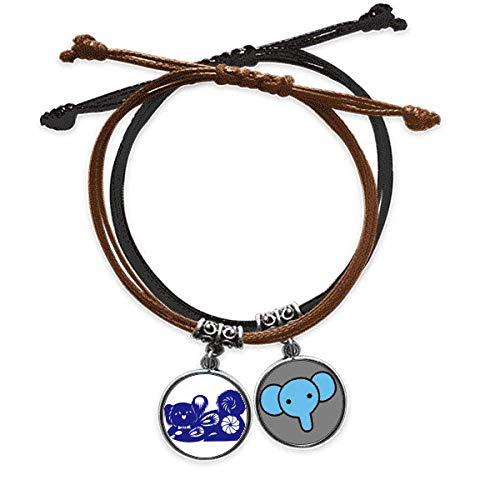 CaoGSH Pulsera de piel con diseño del zodiaco del año del perro, diseño de animales, de China,...