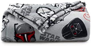 The Big One Oversized Plush Throw 2019 (Star Wars Characters) - 5ft x 6ft Super Soft and Cozy Micro-Fleece Blanket for Couch or Bedroom