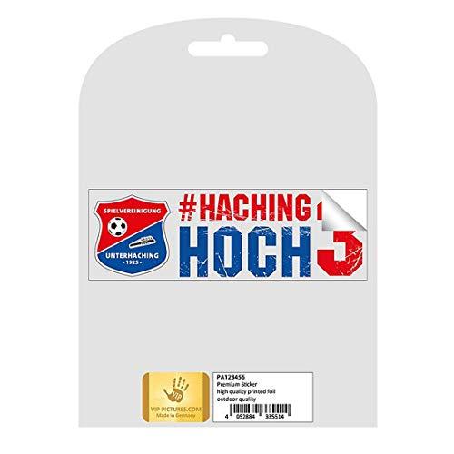 SPORTSMA SpVgg Unterhaching AutoAufkleber Sticker aus Selbstklebende PVC Folie weiß 5cm Fußball Fanartikel