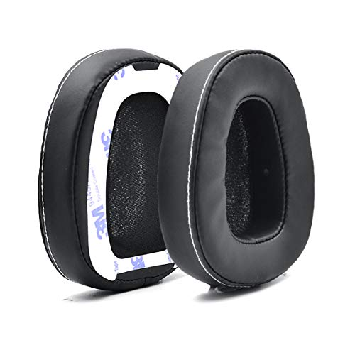 Defean 1 Pairs Black Ear Pads Cushion with Tape for Skullcandy Crusher Over Ear Wired Built-in Amplifier and Mic Headphone