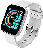 XYG Smart Watch HD Touch Screen Fitness Trackers Watch Y68 Sport fascia impermeabile con rilevamento della pressione sanguigna frequenza cardiaca, dispositivo indossabile argento (argento)