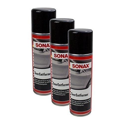 SONAX 3X 03342000 TeerEntferner Ölfleck Teerfleck Entferner 300ml