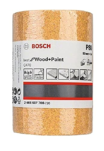 Bosch 2 608 607 708 - Rodillo lijador (93 mm, 5 m, 80)
