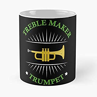 xuthonaz Band Player Marching Trumpet Piccolo Jazz Orchestra Trumpeter Taza de café con Leche 11 oz