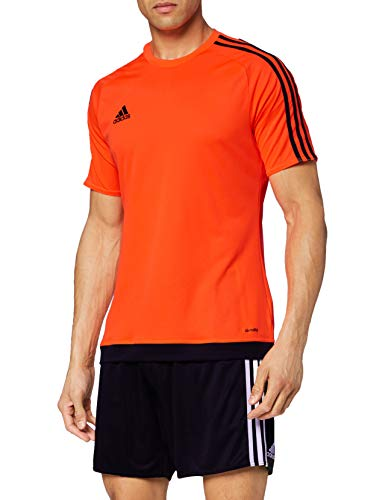 adidas Estro 15 JSY - Camiseta para hombre, color naranja/negro, talla 2XL