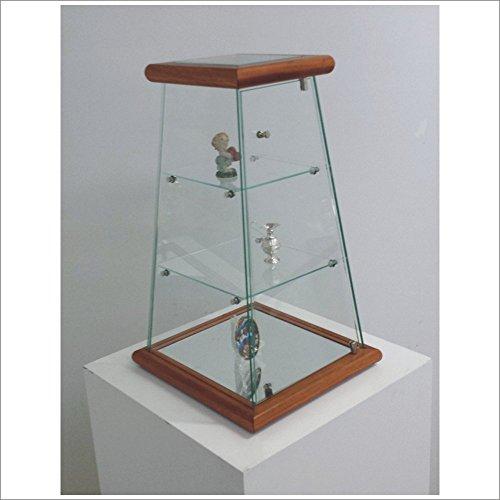 VM ART DESIGN GLASS Klein Pyramid Vitrinen VM203T (Holz Kirschholz)