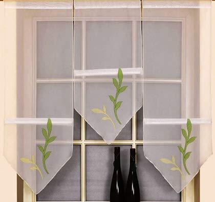 Gardinen Röttger Miniflächen-Set Scheibengardine mit Ranken grün