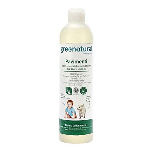 GREENATURAL vloerreiniger concentraat ml 500 met etherische oliën van tijm, Tea Tree en lavendel