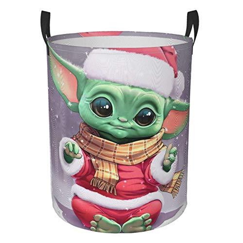 niushan Csic - Cesta de la ropa de Navidad grande para la colada, impermeable, plegable, con asas, bolsa de almacenamiento redonda, para baño/dormitorio/dormitorio