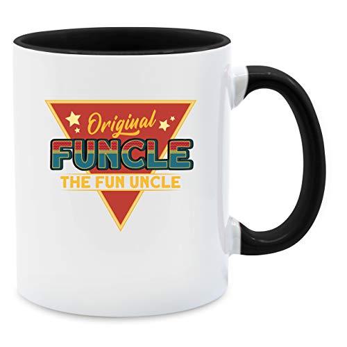 Shirtracer Tasse für Onkel - Original Funcle - The Fun Uncle - V1 - Unisize - Schwarz - Statement - Q9061 - Tasse für Kaffee oder Tee