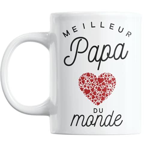 Mug Meilleur Papa du Monde | Cadeau Papa Cadeau Fete Des Peres Mug Cadeau Pour Papa Tasse Papa Ceramike Cadeau Anniversaire Papa Cadeaux Peres Pere Mug Papa Cadeau Papa Cadeau Pour Sa Pere