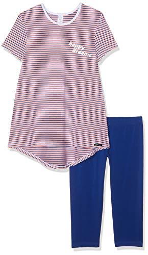 Skiny Mädchen Cosy Night Sleep Girls Pyjama 3/4 Zweiteiliger Schlafanzug, Mehrfarbig (Coral Stripes 2156), 152