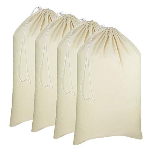 Simpli-Magic 79164 Canvas Laundry Bags, 28' x 36', Natural, 4 Pack