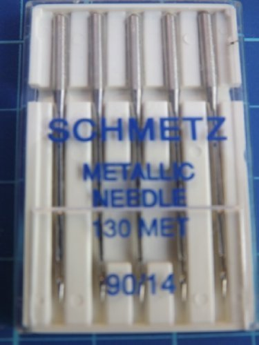 Best Buy! Metallic Machine Needle-Size 90/14 5/Pkg by Notions - In Network