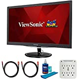 ViewSonic VX2457-MHD 24 inch Widescreen LED Backlit LCD Monitor Bundle with 2X 6FT Universal 4K HDMI 2.0 Cable, Universal Screen Cleaner and SurgePro 6-Outlet Surge Adapter