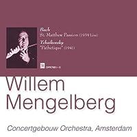 バッハ:マタイ受難曲(1939年 ライブ録音) ほか (3CD) (Mengelberg Tchaikovsky Symphony No.6, Bach Matthew Passion)