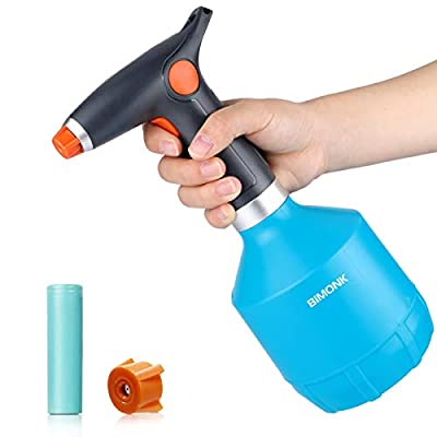 Electric Plant Mister Spray Bottle for House Flower, Indoor Handheld Watering Can Spritzer with Adjustable Spout, 32 Ounce / 1 Liter Garden Tiny Auto Plastic Sprayer, for 75% Alcohol, Perfume,Cleaning