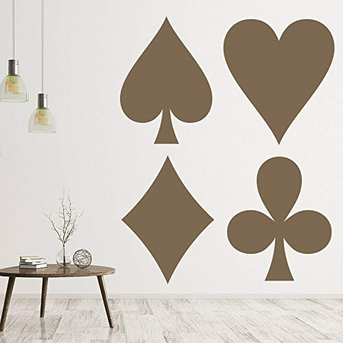 Juego de Casino, calcomanía de pared, club, juegos de azar, entretenimiento, decoración de interiores, vinilo, adhesivo para ventana, mural artístico