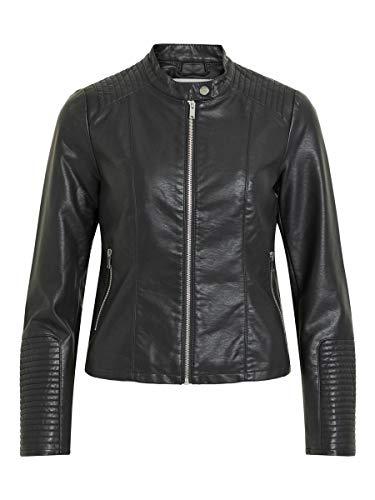 Vila NOS Viblue New Jacket-Noos Chaqueta, Negro (Black Black), 38 (Talla del fabricante: 36) para Mujer