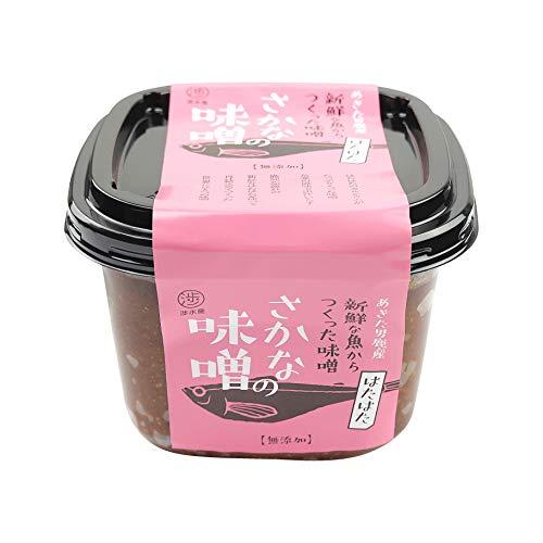渉水産 国産 秋田 男鹿 さかなの味噌 ハタハタ 鰰 天然醸造 無添加 470g 1個