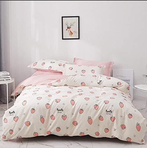 IRCATH slaapcomfort - eenvoudige katoenen koning klein fris beddengoed huishoudtextiel dekbedovertrek vierdelige driedelige honing