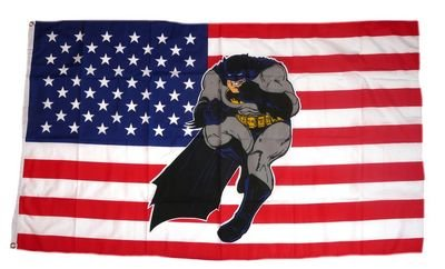 Flagge Fahne USA - Batman 90 x 150 cm FLAGGENMAE®