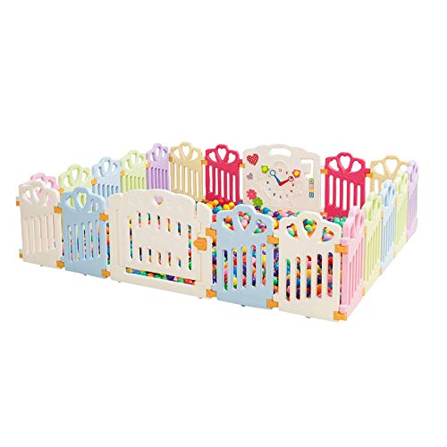 New NYDZDM Plastic Baby Fence Indoor Fence with Colorful Panels, Children's Outdoor Playground Baby ...
