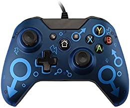 QUMOX Wired Xbox One Controller USB Game Controller for PC Gamepad Joystick with Dual Vibration Audio Function Compatible ...