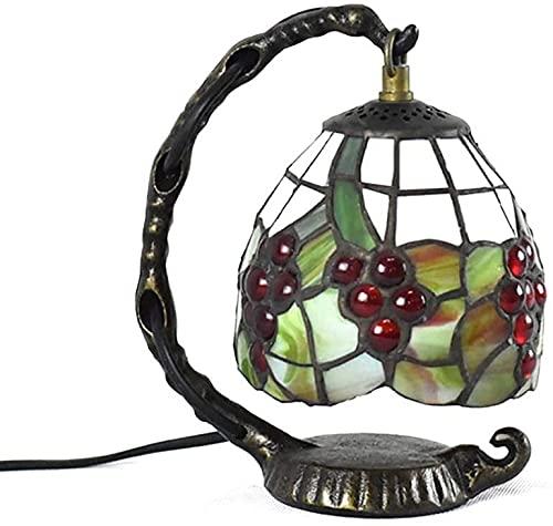 FHUA Lámpara Escritorio Pantalla de Vidrio + Metal 1 Fuente de luz Retro Dormitorio Creativo Sala de Estar Comedor lámpara de Mesa de Aprendizaje/lámpara de Escritorio/lámpara