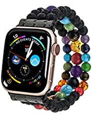 PLTGOOD Compatible with Apple Watch Band Beads Bracelet 38mm/40mm, 42mm/44mm Watch Strap for Women Men - Apple iWatch Series 6/5/4/3/2/1/SE