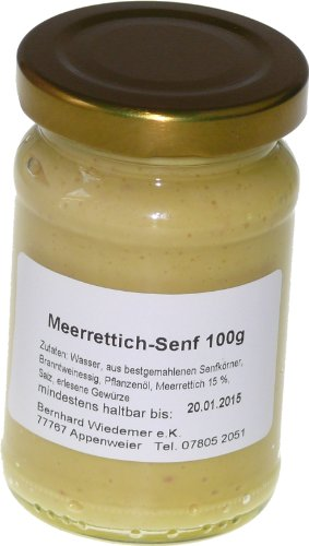 Wiedemer Gourmet Meerrettich Senf 100g
