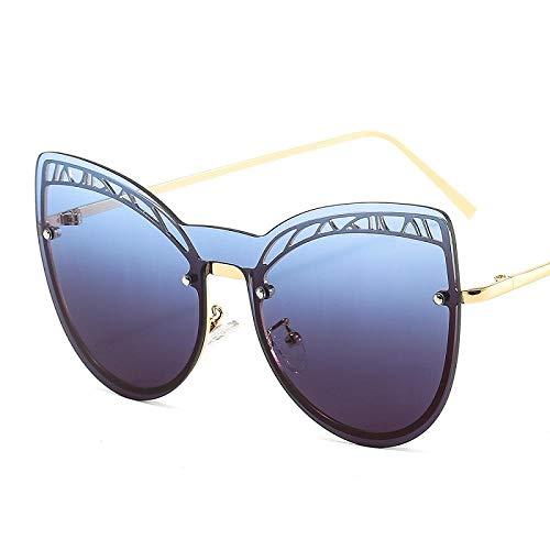 chuanglanja Gafas De Sol Vogue Mujer Gafas De Sol De Mariposa Con Forma De Ojo De Gato Para Mujer Hombre Gradientes Montura De Aleación Lente De Pc Gafas De Sol-Color-D