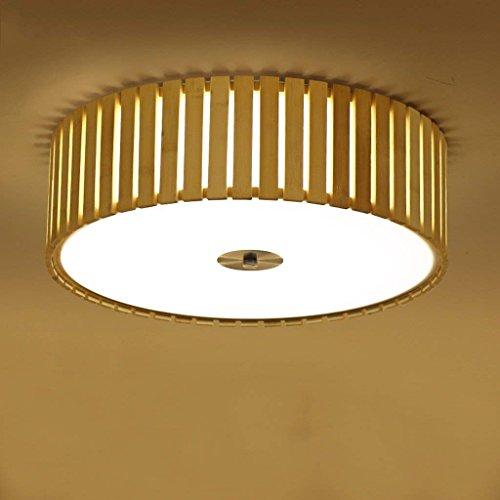 DSJ Eenvoudige bamboe plafondlamp Japanse kamer verlichting bamboe licht kamer licht geleid slaapkamer licht lenslicht, klein 38 cm