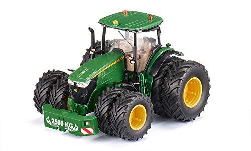 siku 6735, John Deere 7290R Traktor, Grün, Metall/Kunststoff, 1:32, Ferngesteuert, Steuerung mit App via Bluetooth, Abnehmbare Doppelreifen, Ohne Fernsteuermodul