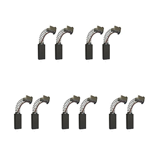 5 Sets of - 2x Carbon Brushes - Kango Hammer-Drill (Size - 6.3 X 9.5 X 23/21)