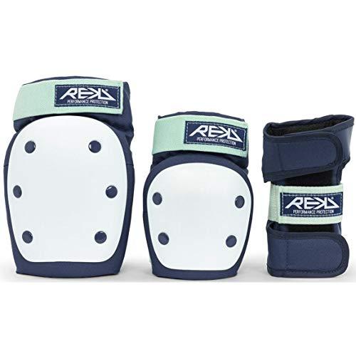 REKD Heavy Duty Triple Pad Set Skateboard-Schutzset, Erwachsene, Unisex, Mehrfarbig (Blue/Mint), XS