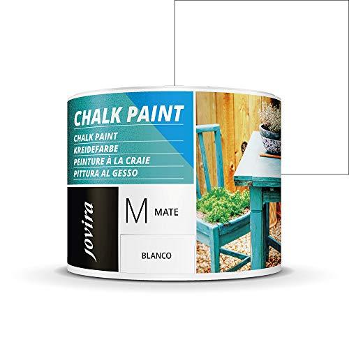 PINTURA EFECTO TIZA,CHALK PAINT, AL AGUA MATE, Renueva tus muebles con creatividad. (375 ml, BLANCO)