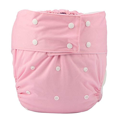 Adult Cloth Diaper Cover Nappy Reusable Washable Adjustable for Disability Incontinence Person (D02)