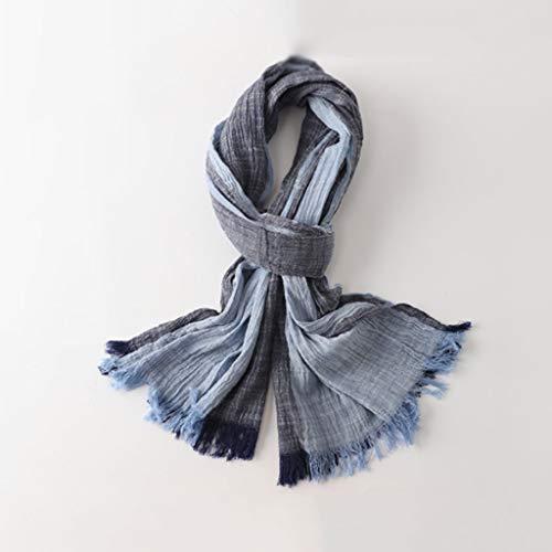 Fular para Hombre Hombres Bufandas de Invierno, cómodo Suave Grueso y cálido algodón Bufanda Envuelta mantón de la Bufanda Acción de Gracias Bufandas (Color : Gray Blue)