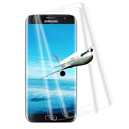 [2 Unidades] WINCHEO Protector de Pantalla para Samsung Galaxy S7 Edge, Sin Burbujas y Antiarañazos Vidrio Templado Protector de Pantalla para Samsung Galaxy S7 Edge - Transparente
